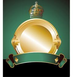 Golden label vector image