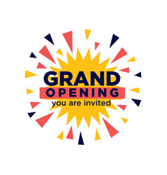 Grand opening invitation minimalistic vector