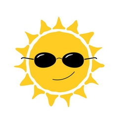 Happy sun fun icon vector