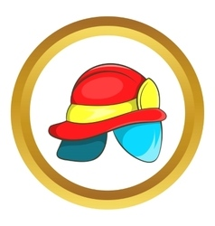 Helmet of firefighter icon vector