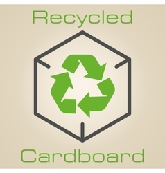 Logo recycled cardboard vector image