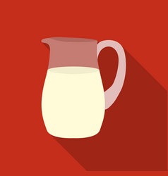milk jug icon flat single bio eco organic vector image