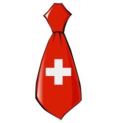 Necktie in national colours of switzerland vector