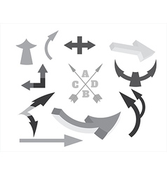 objects arrows vector image vector image