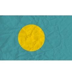 Palau paper flag vector image