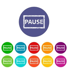 Pause flat icon vector