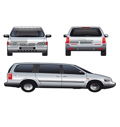 Service car template vector