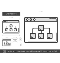 Site map line icon vector