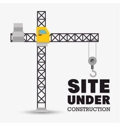 Site under construction construction crane vector