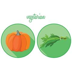 vegan2 vector image vector image