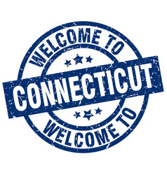 Welcome to connecticut blue stamp vector