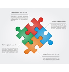 Concept of colorful puzzle pieces vector