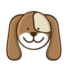 colorful picture face cute dog animal vector image