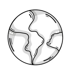 Line global earth planet and geography ubication vector