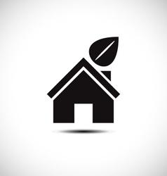 Bio green house icon vector image