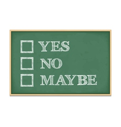 Yes no maybe vector