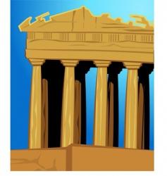 acropolis vector image