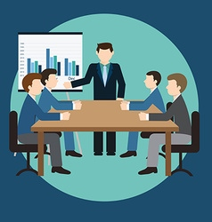 Business meeting and presentation in an office vector