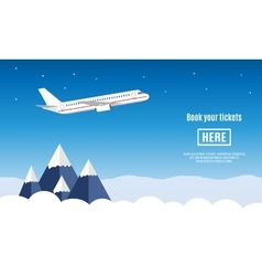 Flat travel banner vector