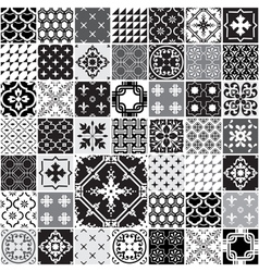 Huge Seamless Patchwork Patterns Tiles vector image
