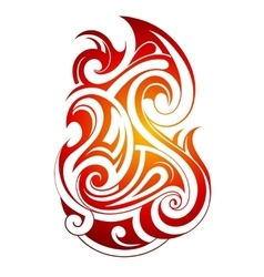 Fire flame tribal tattoo vector