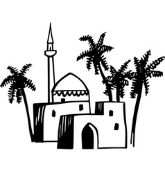Arabic house vector image