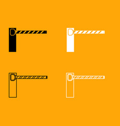 barrier black and white set icon vector image
