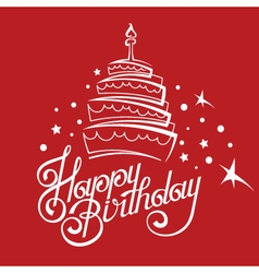 Birthday card design vector