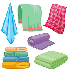 cartoon towels set vector image vector image