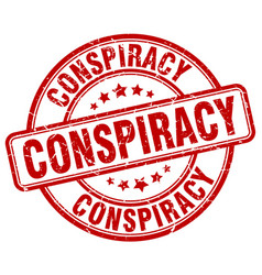 Conspiracy stamp vector