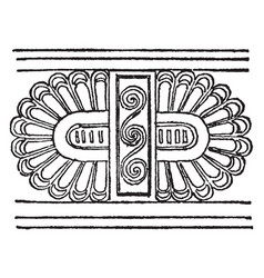 Cretan ornament is a frieze ornament vintage vector
