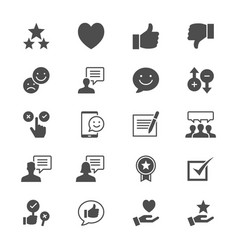 feedback and review flat icons vector image vector image