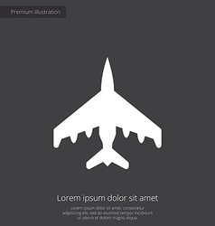 fighter premium icon vector image