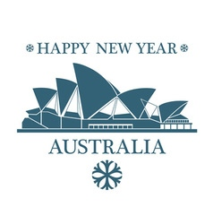 Greeting card australia vector