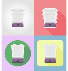 Household appliances for kitchen 14 vector