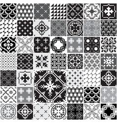 Huge seamless patchwork patterns tiles vector