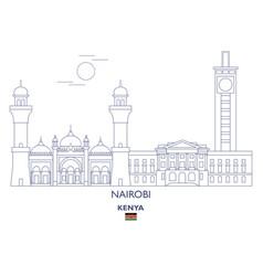 Nairobi city skyline vector