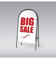 Pavement sign with the text big sales vector