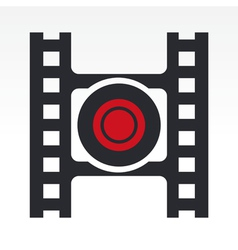 record video button vector image vector image