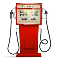 red petrol station in USA vector image vector image