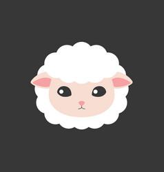 sheep face icon vector image vector image
