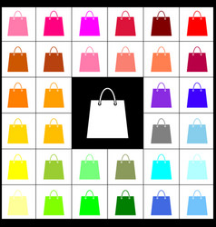 Shopping bag felt-pen 33 vector