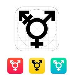 Transgender icon vector