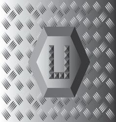 U text aluminium wallpaper vector