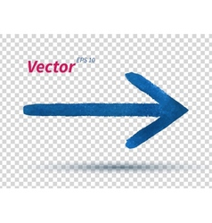 Watercolor arrow vector image vector image