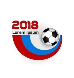 Logo Football Championship 2018 vector image