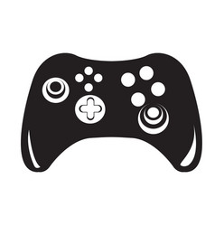 isolated joystick silhouette vector image