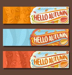 banners for autumn season vector image