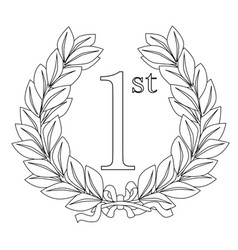 1st laurel wreath vector