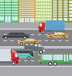 Flat design of city traffic Transportation Flat vector image